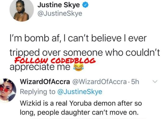 """I Can't Believe I Tripped For Someone Who Couldn't Appreciate Me"" - Wizkid's Ex-Girlfriend, Justine Skye Laments"