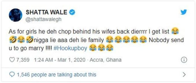 """TRENDING!!! """"You Cheated On Your Wife"""" – Shatta Wale Slams Sarkodie 2"""