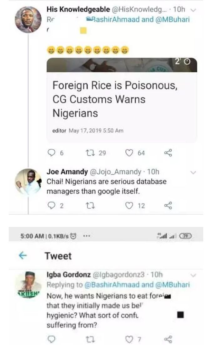 You Want To Give Us Same Rice You Said Was Poisonous? – Nigerians Hit Buhari Online 3