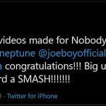 Mr Eazi expresses gratitude 186,000 triller video for 'Nobody' hits 186,000