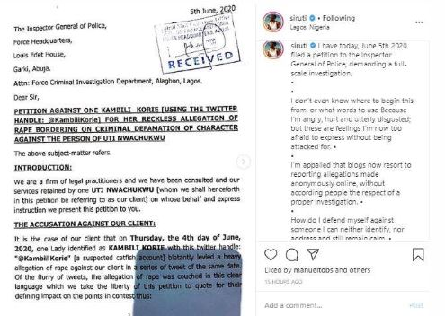 Uti Nwachukwu Petitions Police Over Rape Allegations 1