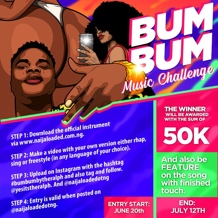 INSTRUMENTAL!! The Ralph – Bum Bum Challenge, 50k To Be Won (Download The Beat)