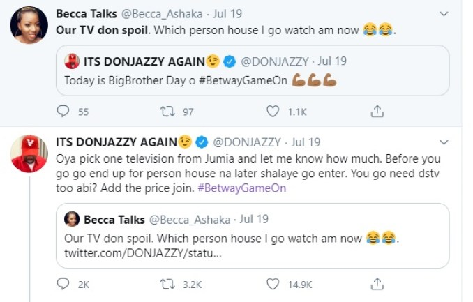 Don Jazzy Gifts Lady N200k To Buy TV And Decoder After Complaining Of This (Photos) 1