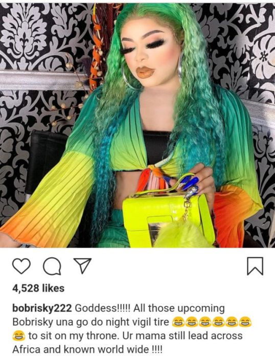 """""""Still Leading As Number 1 In Africa"""" – Bobrisky Warns Upcoming Cross-dressers That They Can't Take His """"Throne"""""""