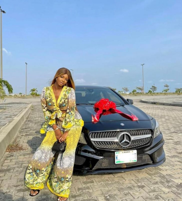 CONGRATS! Iyabo Ojo's 19-Year-Old Daughter Priscilla, Buys Herself A Benz 1