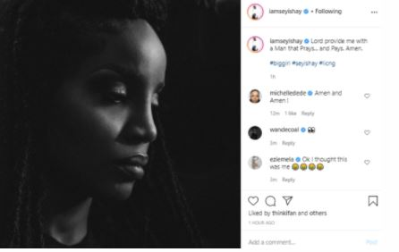 """""""Provide Me With A Man That Prays And Pays"""" – Singer Seyi Shay Begs God 1"""