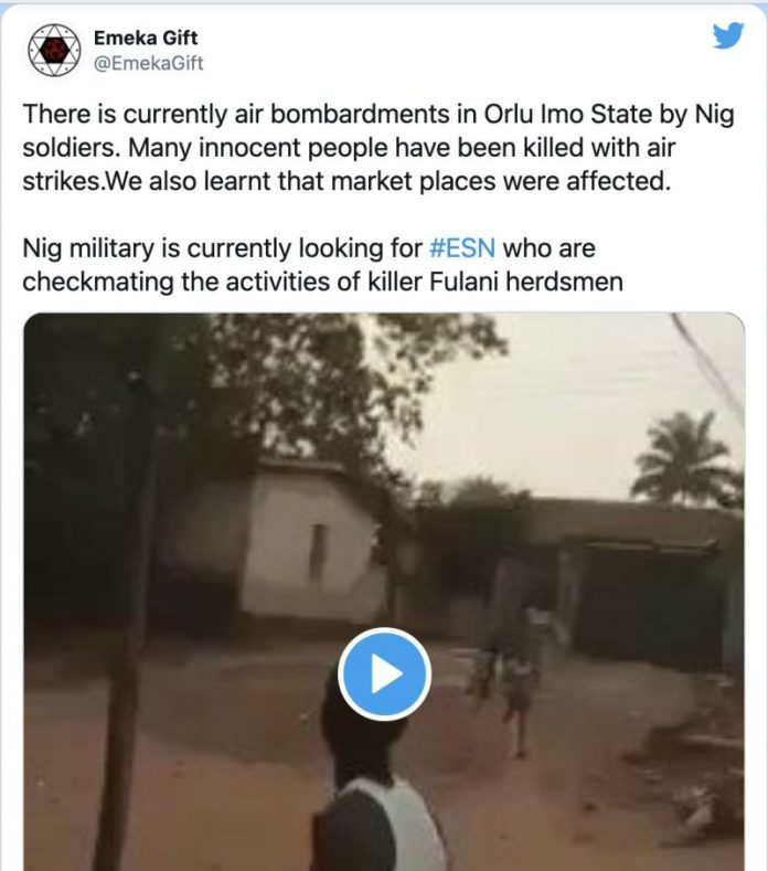 Fact Check : Did The Nigerian Army Conduct Airstrikes In Orlu Imo State