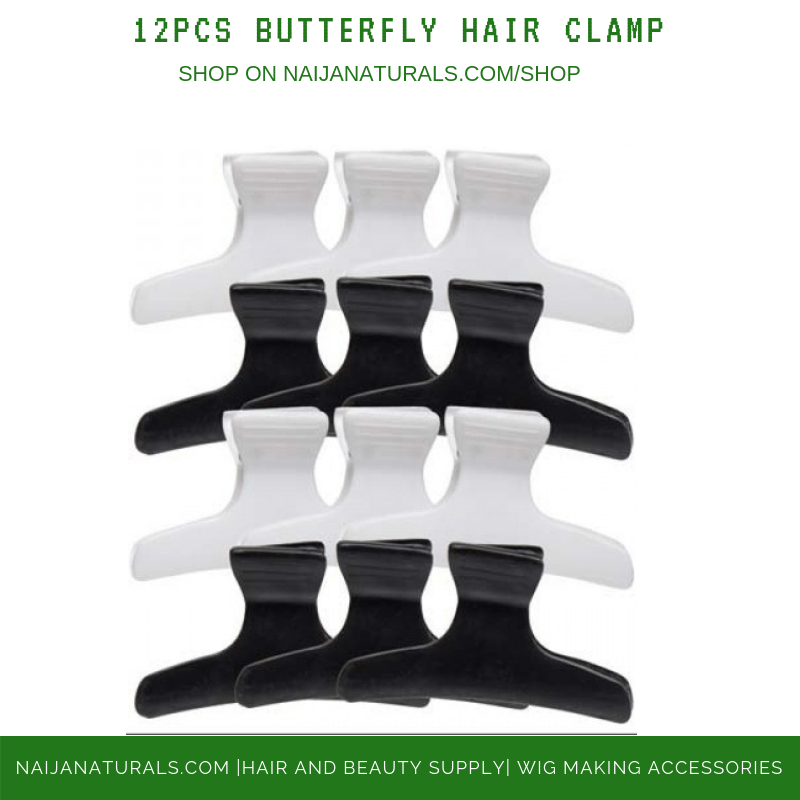 12PCS BUTTERFLY HAIR CLAMP
