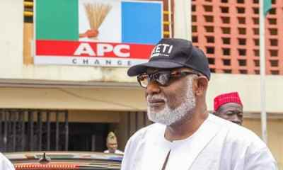 Youths block Gov. Akeredolu's office