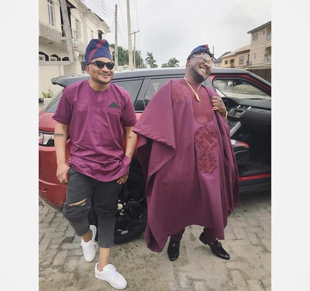 masterkraft 2 640x600 - LOL! See what MasterKraft wore to Banky W and Adesua's traditional wedding ceremony
