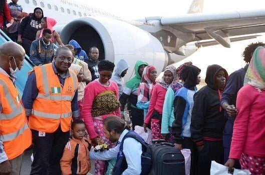 Image result for More Nigerians return from Libya