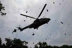 Helicopter crash - Nine Persons Killed As Two Military Helicopters Crash