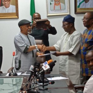 Chris Ngige and ASUU President - FG Blames ASUU For #EndSARS, Other Protests In The Country