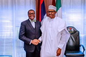 Muhammadu Buhari ,AfDB President,Dr Akinwunmi Adesina