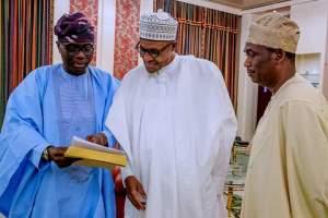 sanwo olu buhari and hamzat - #EndSARS: What Gov. Sanwo-Olu Discussed With President Buhari