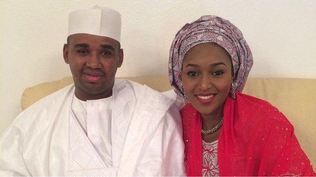 Muhammadu Buhari and her husband Abubakar Samuel Isa