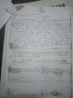 Police FIR 1 - Adamawa Court Denies Missing Rape Case File