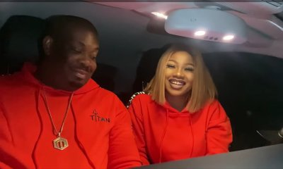 Tacha and Don Jazzy
