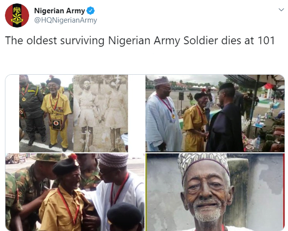 arm - Longest Surviving Nigerian Soldier Dies At 101