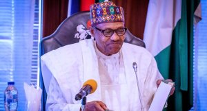 Buhari smiles - Just In: Buhari Shuts Down Lagos, Ogun, Abuja For 14 Days
