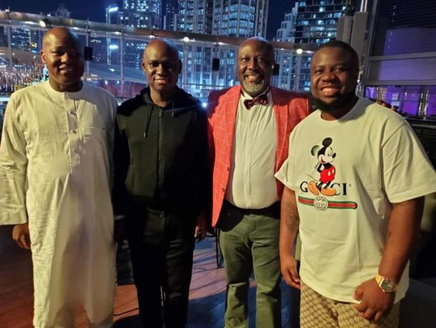 Hushpuppi with Dogara Timi Frank and Dino Melaye. - Prime 5 Political Quotes In Nigeria For This Week