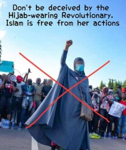 Aisha Yesufu e1602579782400 - #ENDSARS: Muslim Man Condemns Aisha Yesufu, Says Islam Is Against Protest [Read His Assertions]