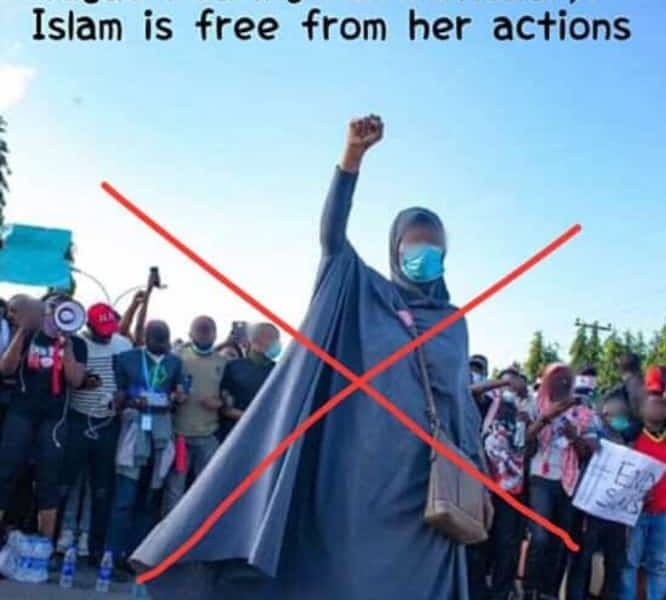 #ENDSARS: Muslim Man Condemns Aisha Yesufu, Says Islam Is Against Protest [Read His Assertions]