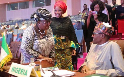 WTO: Buhari Meets Okonjo-Iweala At Presidential Villa
