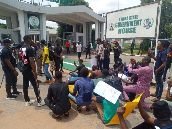 #EndSARS: Youths Kick Off Protest Against Police Brutality In Kwara State (Picture)