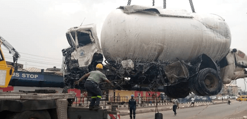 One Dead In Gas Tanker Accident In Lagos