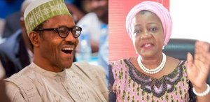 Lauretta Onochie and President Buhari - APC Vs PDP: Onochie's Appointment As INEC Commissioner Sparks Controversy