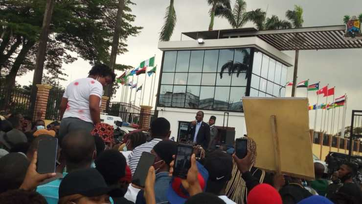 #ENDSARS: Small Doctor, Others Storm Lagos House Of Assembly