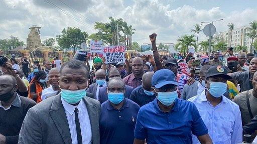Sanwo-Olu Joins #EndSARS Protest In Lagos (Photos)
