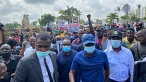 Sanwo2 300x170 1 - Sanwo-Olu Joins #EndSARS Protest In Lagos (Photos)
