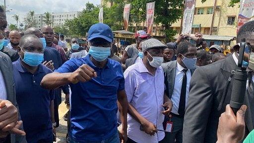 Sanwo3 - Sanwo-Olu Joins #EndSARS Protest In Lagos (Photos)