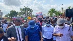 Sanwo4 300x170 1 - Sanwo-Olu Joins #EndSARS Protest In Lagos (Photos)