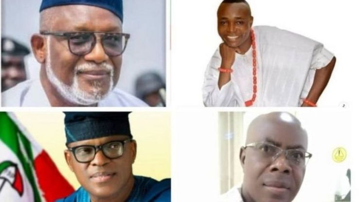Some of the candidates for the 2020 governorship election in Ondo state