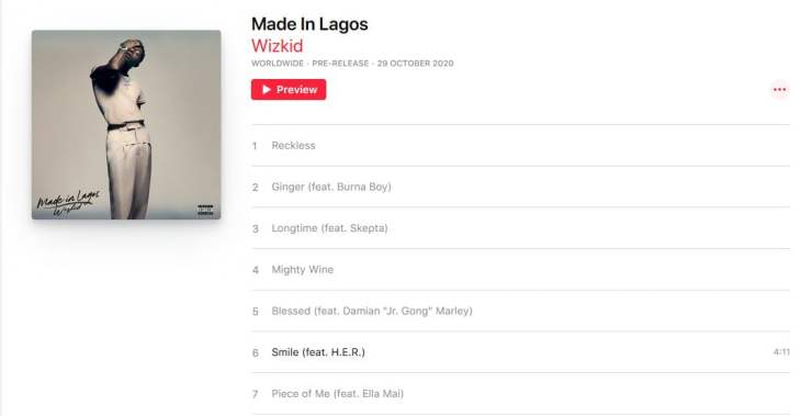 Wizkid's #MadeInLagos Album Is Out (Listen And Download Here)