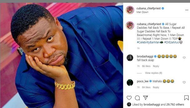 Cubana ChiefPriest Sends Strong Message To All Sugar Daddies, Following The Death Of Nigerian Billionaire, Usifo Ataga