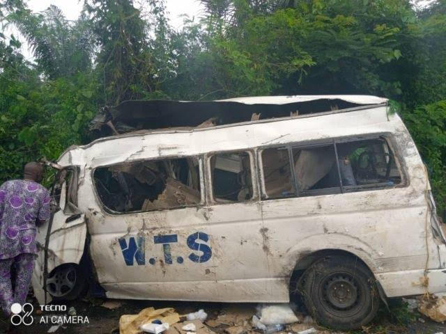 Road Crash Kill Seven In Ekiti State - [Photos]