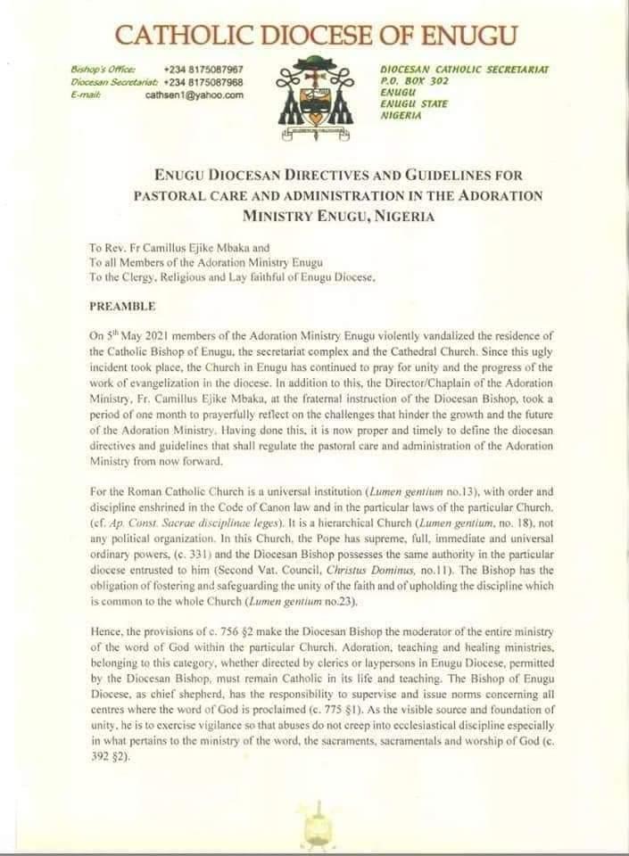 Breaking: Catholic Church Slams Ban On Father Mbaka (Full Statement)