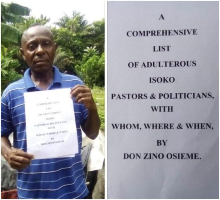 Nigerian Bishop Makes A Comprehensive List Of Adulterous Pastors And Politicians