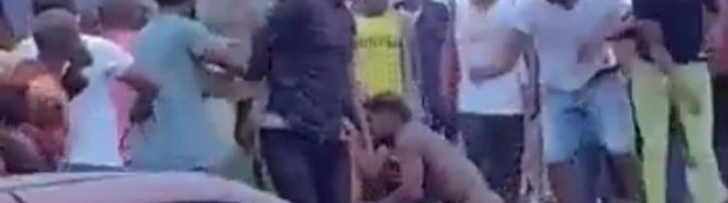 Chaos As 'Mentally Challenged' Man Stabs Pedestrian Over Money In Port Harcourt - [Photos]