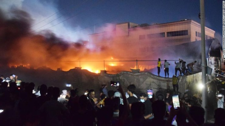 41 Killed As Fire Guts COVID-19 ICU Centre In Iraqi - [Photos]