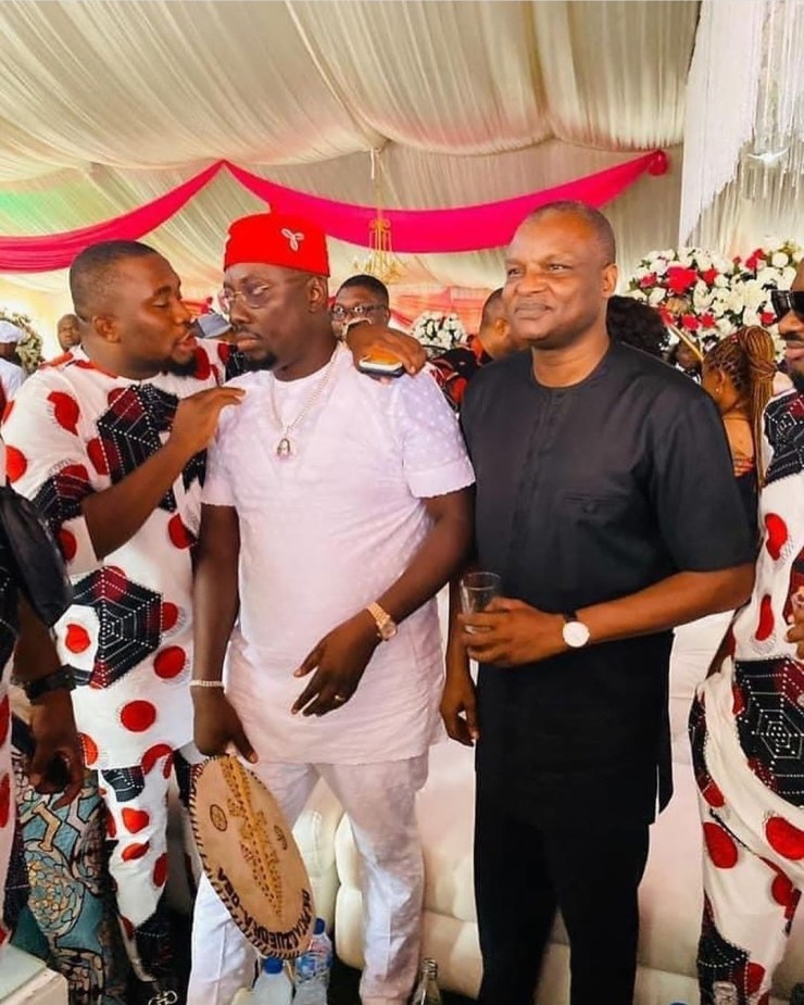 DCP Abba Kyari Poses With Obi Cubana At His Mother's Burial - [Photos]
