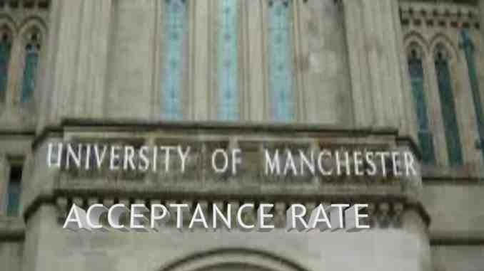 University of Manchester acceptance rate