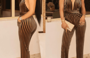 Toke Makinwa flaunts new glowing look in sexy jumpsuit (Photos)