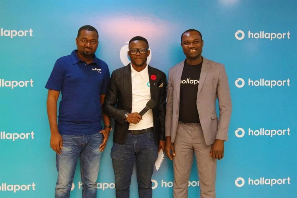 L-R-Alhaji-Kabiru Rabiu-Founder Hollaport-Egbeleke Demola Event MC-Mr Olowojesiku Michael General Manager