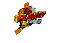 My Funky Birthday TV show logo, My Funky Birthday, MFB