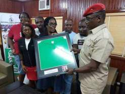 TEAM NIGERIA UK VISITS SPORTS MINISTER, SOLOMON DALUNG